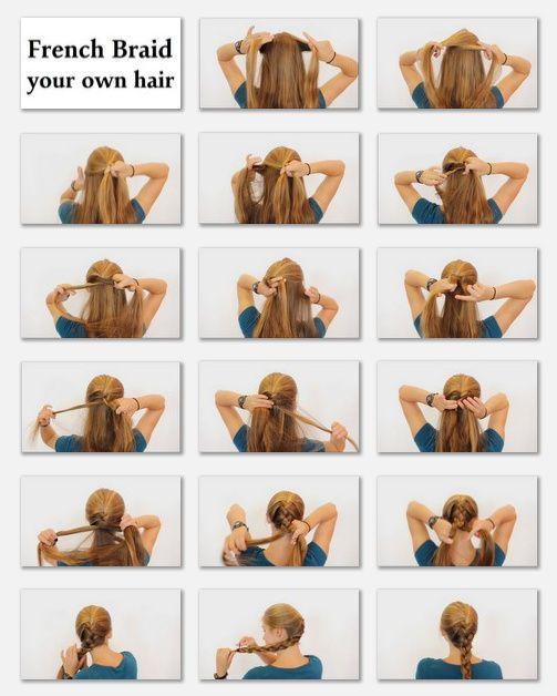 Tremendous How To Braid French Braid Tutorials And My Hair On Pinterest Short Hairstyles Gunalazisus