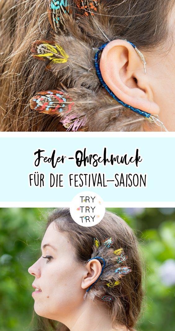 DIY Feder-Ohrschmuck für das nächste Festival