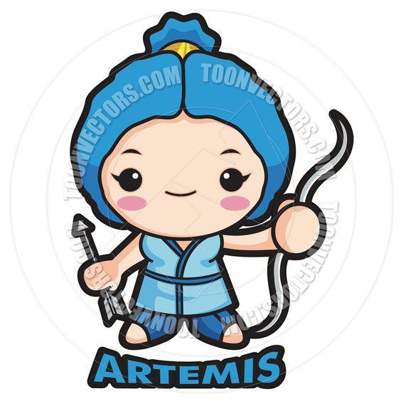 Greek Goddess Artemis Drawing Cartoon | Cartoon Goddess ...