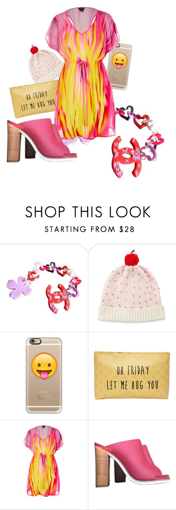"""[142] TGIF"" by ka-berger ❤ liked on Polyvore featuring Chanel, Kate Spade, Casetify, T-shirt & Jeans, City Chic, TIBI and weekend"
