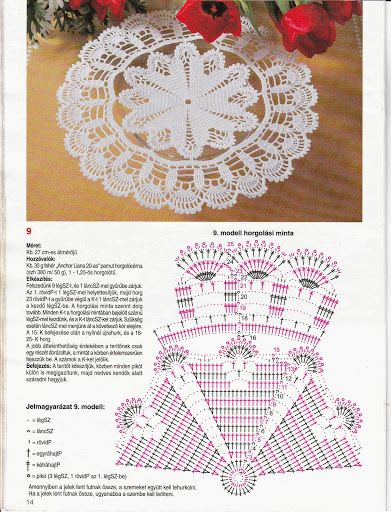 World crochet: Napkin 331