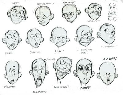 Facial Expressions Emotions How To Draw Ref