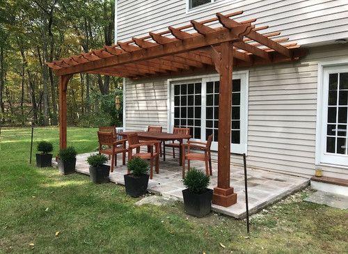 Classic Cedar Pergola Kit Wall Mounted Outdoor Pergola Pergola Patio Pergola