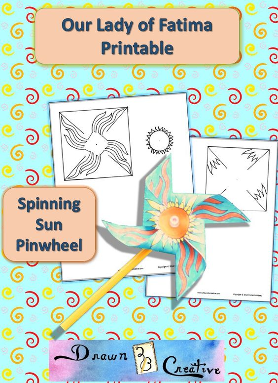 Spinning Sun Pinwheel for Our Lady of Fatima