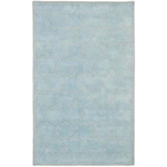 Safavieh Handmade Moroccan Chatham Bluish-Grey Wool Rug (5' x 8')