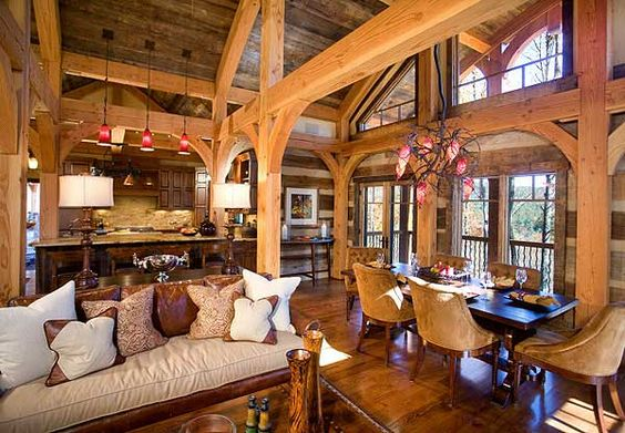 Tiny Home Designs: Open Concept, Log Homes And Living Rooms On Pinterest