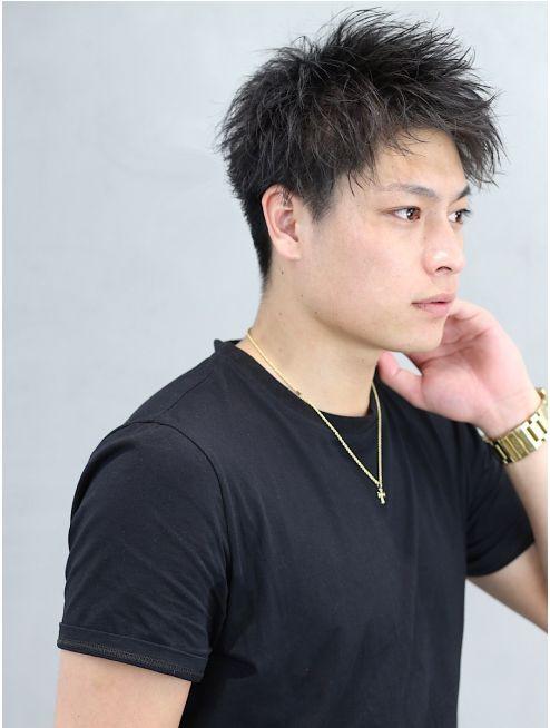スマート爽やか刈り上げツーブロック黒髪 エアクロムショート L016442788 リップス 渋谷 Lipps のヘアカタログ ホットペッパービューティー 男性 スタイル 髪型 男子 メンズ ヘアスタイル
