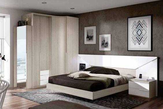 dormitorio para cama con bancada para colch n de 150x190cm