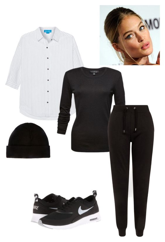 """""""Untitled #190"""" by yasminabuwi on Polyvore featuring M.i.h Jeans, New Look and NIKE"""