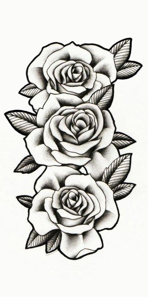 Rosas Sombreadas Tattoo Desenho De Rosas Desenhos Para