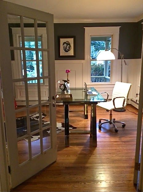 converted a dining room into a home office for a friend love the change dining room home office home