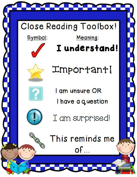 Coach Universal Clip Art Reading Literacy Poster : Poster of annotation symbols for students to use during