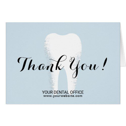 Dental Office Dentist White Tooth Thank You Zazzle Com Dental Dentist Dental Office