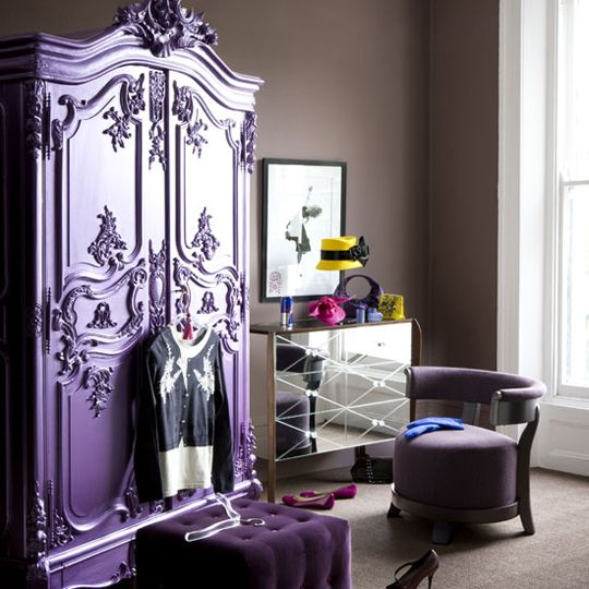 Purple Dresser. This would be awesome for Julia's Room!
