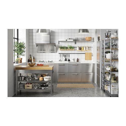 Rimforsa Work Bench Stainless Steel Bamboo Ikea Ikea Kitchen Design Industrial Kitchen Design Interior Design Kitchen
