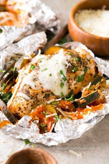 Chicken Parmesan Foil Packets