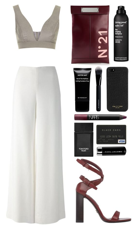 """///"" by mimiih on Polyvore featuring Topshop, The Row, Prada, N°21, Living Proof, Givenchy, rag & bone, Tom Ford, NARS Cosmetics and Marc Jacobs"