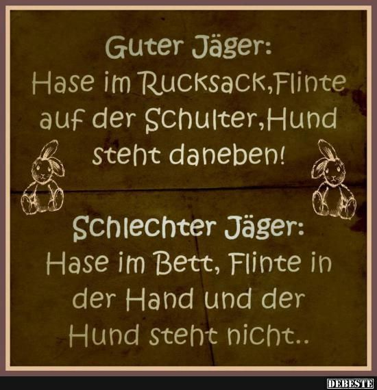 Guter Jäger / Schlechter Jäger | DEBESTE.de, Lustige ...