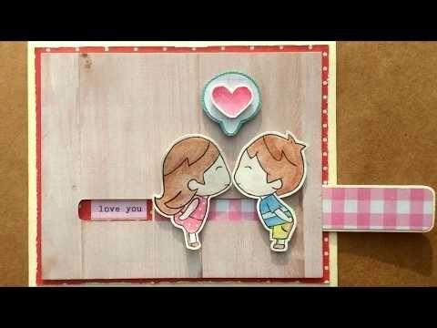 Tutorial Diy Slider Card Handmade Love Youtube Anniversary Cards Handmade Diy Crafts For Boyfriend Birthday Gifts For Boyfriend Diy