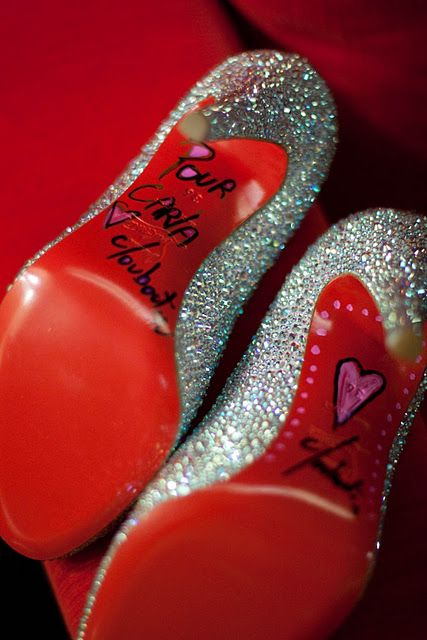 Add this to my bucket list: Get a pair of Christian Louboutin heels signed by the man himself. I'd never even wear them; just stare at them like a priceless work of art. ♥