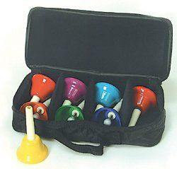 Case for 8 Note KidsPlay Handbell Sets by Rhythm Band. $10.95. Features: These new cases make storing and transporting bells easier than ever! The heavy-duty nylon material is virtually indestructible! Holds 8 Kidsplay brand handbells. Model: RB108CASE Manufacturer: Rhythm Band