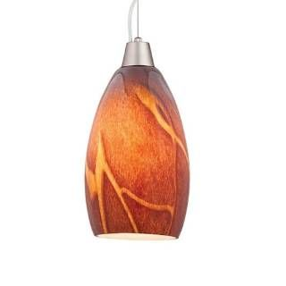 Check out the Access Lighting 28012-BS-ICA Ami Inari Silk 1 Light Inca Glass Pendant in Brushed Steel priced at $87.21 at Homeclick.com.