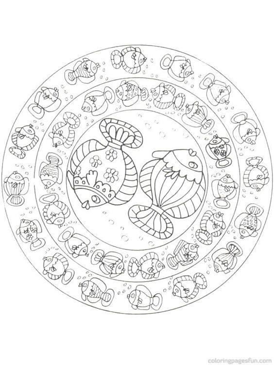 ocean mandalas coloring pages - photo #22