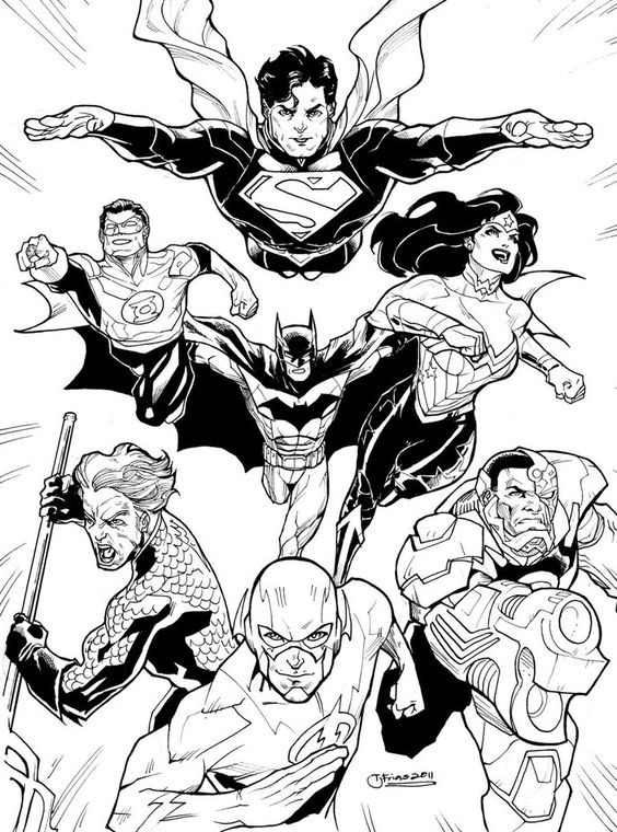 Coloring free pictures and coloring pages on pinterest for Justice league printable coloring pages