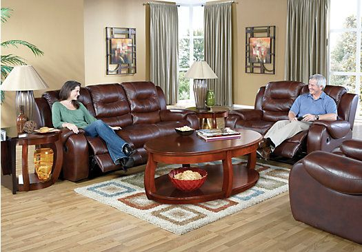 Shop for a verano dark burgundy 3 pc blended leather for Find living room furniture