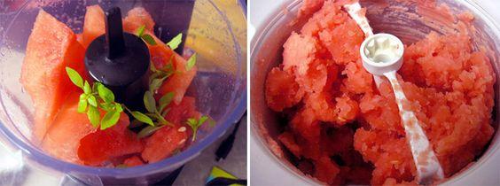 Watermelon basil sorbet