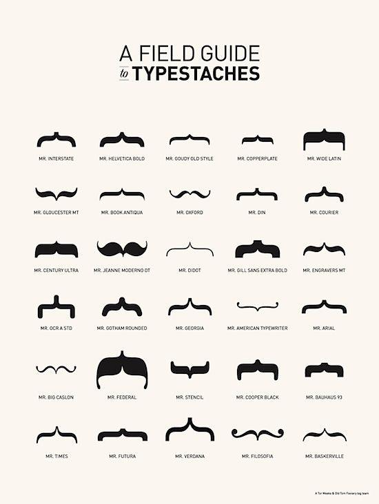 Typestaches !!
