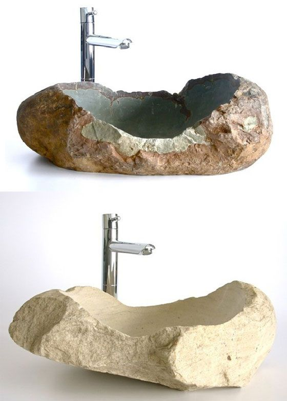 Stone sinks for the bathroom. Another great way to incorporate natural elements into the home.