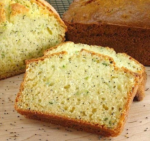 Lemony Zucchini Bread from Food.com:   Flecks of zucchini give a third dimension to the popular lemon and poppy seed combination in this moist quick bread. Recipe is from Taste of Home.