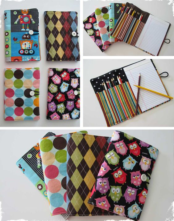 """Keep your little one quiet at the Doctors, Church, or in the car. These would make a great take home gift for those summer birthdays. This wallet is designed to hold 10 colored pencils, and a standard 5""""x8"""" paper pad. The opened wallet measures 11.5"""" x 8.5"""" and closes up to a 5""""x9"""" wallet, perfect for sliding into your diaper bag or purse. It also has an elastic closure to keep the wallet held closed. Design Options:  Robots Argyle Polka Dots Owls"""