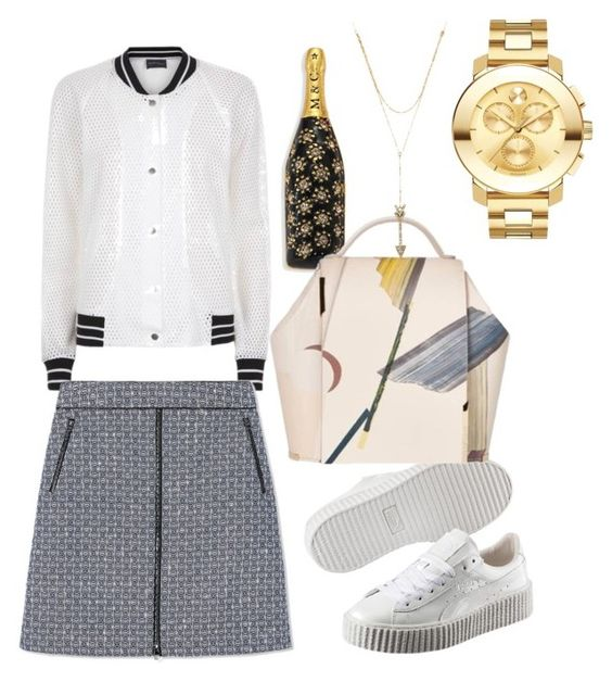 """Untitled #2657"" by theblushingbeauty on Polyvore featuring Antipodium, Tory Burch, Marc Jacobs, Puma, Rebecca Minkoff and Movado"