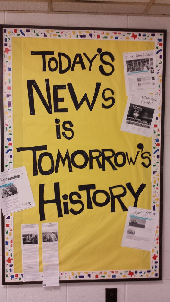 History Classroom Decorations : I love this bulletin board because it keeps up with