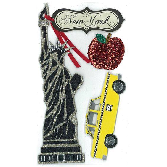 Jolee's Boutique® | Statue of Liberty Parcel Le Grande Dimensional Stickers
