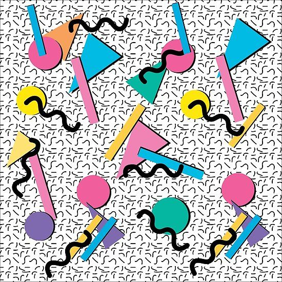 Rad Vintage 90s Memphis Style   Poster   Memphis design pattern ...