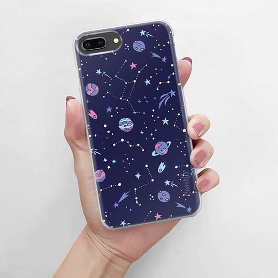coque iphone 8 design blue