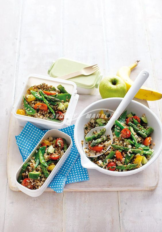 Spring veggie, lentil & rice salad