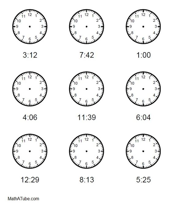 Free Telling Time Worksheets, Missing hands Time Clock   Telling ...