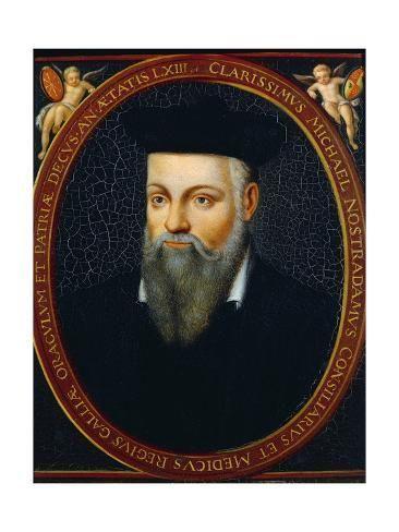 Giclee Print: Portrait of Michel De Notre Dame Called Nostradamus : 24x18in
