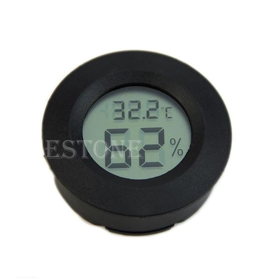 $3.10 (Buy here: http://appdeal.ru/4nr2 ) Y142 hot selling!Digital Cigar Humidor Hygrometer Thermometer Round Black Face Black Free Shipping for just $3.10