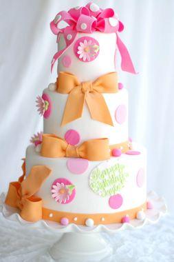 Sweet Candy Colours: Baby Cake, Cake Design, Girl Birthday Cakes, Cakes Cupcakes, Girls Cake, Beautiful Cake, Girl Cake, Girls Birthday, Pink Cake