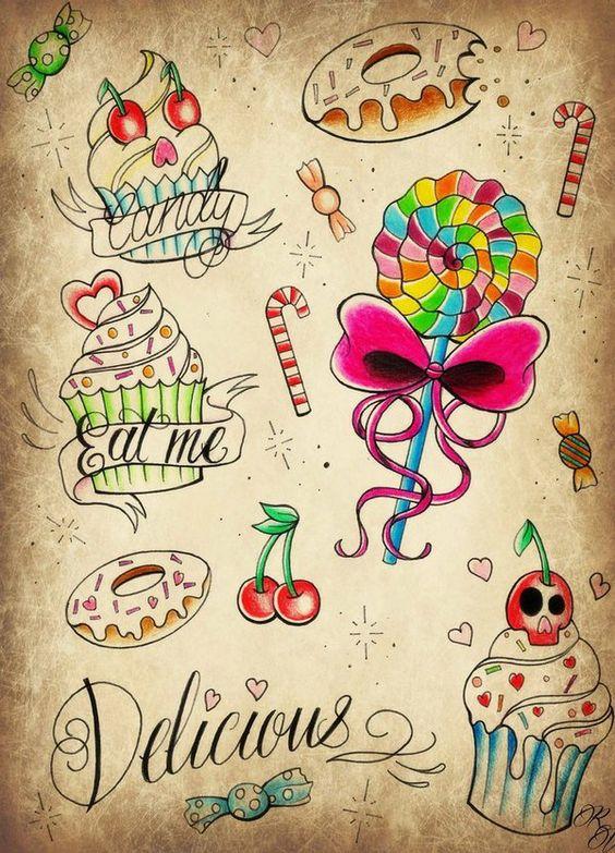 candies tattoo - Buscar con Google