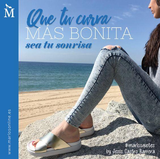 Que tu curva más bonita sea tu sonrisa. By Jesús Castro, finalista #MarlosQuotes