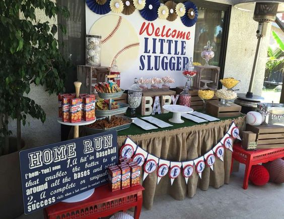 "Baseball / Baby Shower ""Welcome Little Slugger"" 