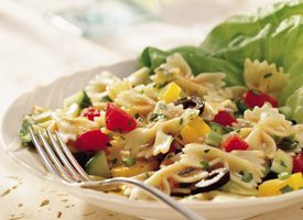 Pasta Salad with Tomato-Lime Dressing - just boil the pasta, mix all & thats it !! Easyyyyyy
