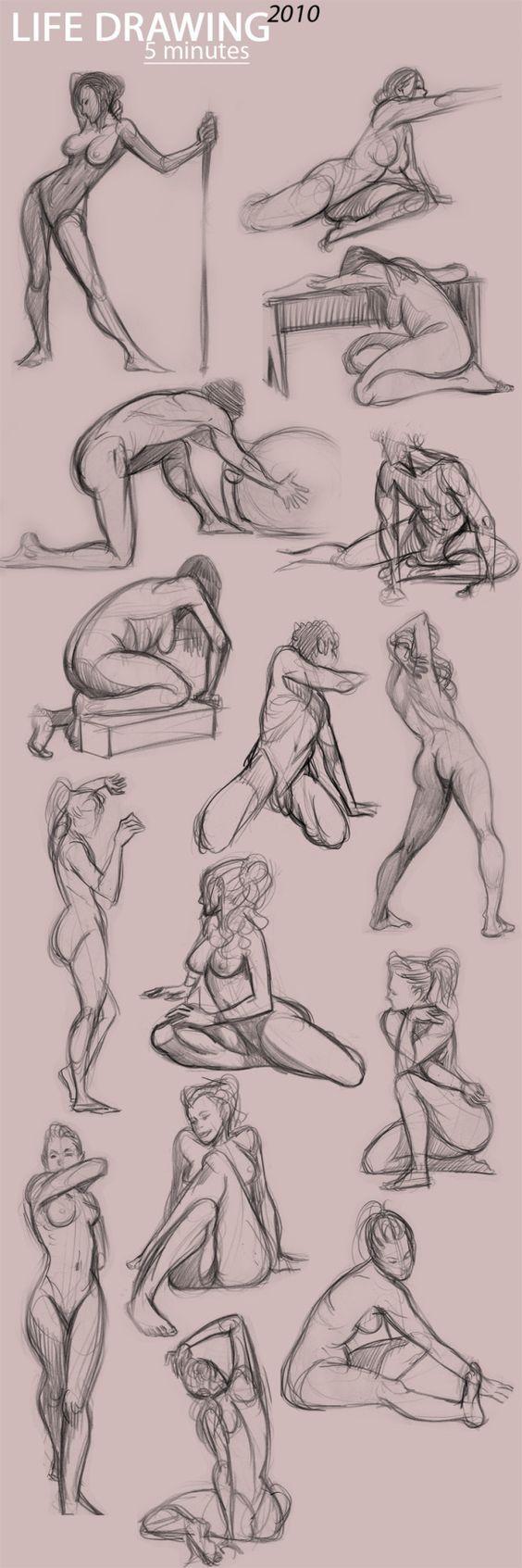 how to draw aprenda  a desenhar corpos em movimento: