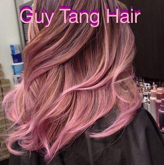 balayage ombre by the amazing guy tang soft pink ends let us dance in the sun wearing wild. Black Bedroom Furniture Sets. Home Design Ideas